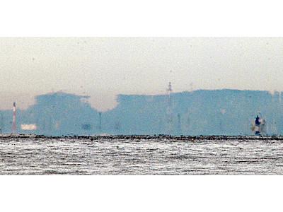 春型蜃気楼12月初観測 魚津、冬型と共演