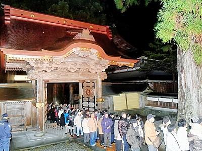 大本山永平寺、大みそか唐門開放 参拝者向けに4時間のみ