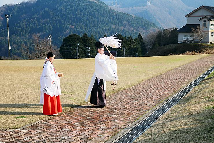 ゲレンデなどをおはらいした安全祈願祭=となみ夢の平スキー場