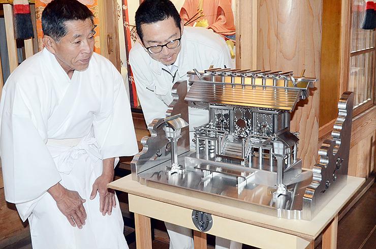 小谷製作所が作ったステンレス製の神棚