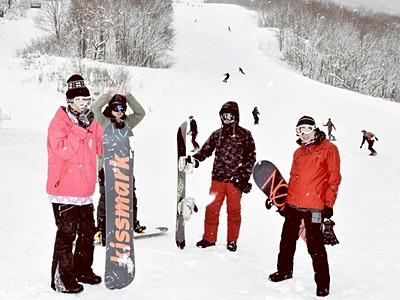 福井和泉スキー場やっとオープン 年末寒波で積雪、5コースで営業