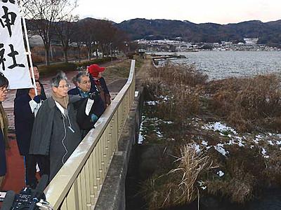 御神渡り、2季連続に期待 諏訪湖の観察開始