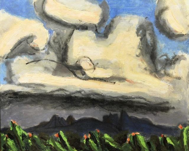曽宮一念さんの「八ヶ岳夏雲」(1965年)