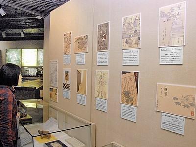 亥年 昭和初期の年賀状 坂井・龍翔館展示会