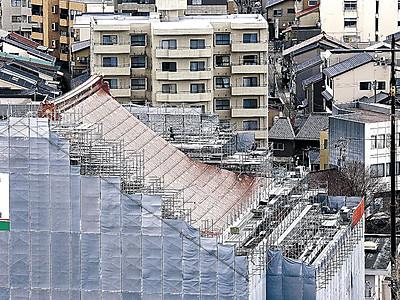 ピカピカ屋根お披露目 東別院
