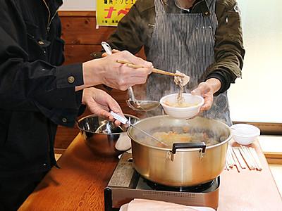 イノシシ肉と名水ポーク食べ比べ 黒部で鍋対決イベント