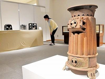 昭和の暖房や照明に光 あわら市で企画展 道具18点披露