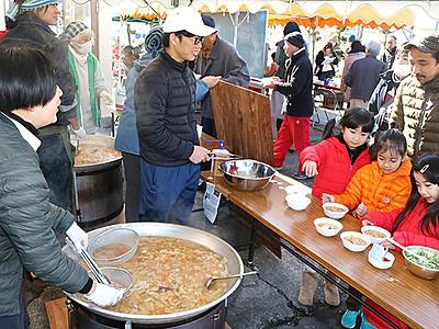 イノシシ VS 名水ポーク 黒部で鍋の食材対決
