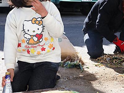飯田の千代ネギ 何度もお代わり地元グループが試食会