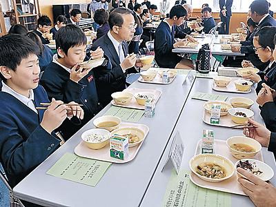 ふるさとの味、給食に登場 金沢市内小学校
