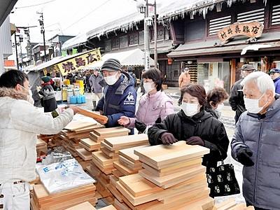 福井県勝山「年の市」 伝承料理や逸品など自慢の品が集結
