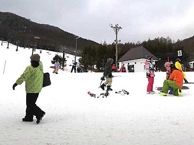雪不足で少ない観光客の長和 かなりお得なスキー宿泊プラン