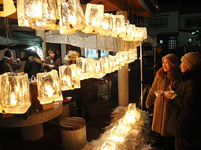 冬の木曽路 宿場にともしび 各地で「氷雪の灯祭り」