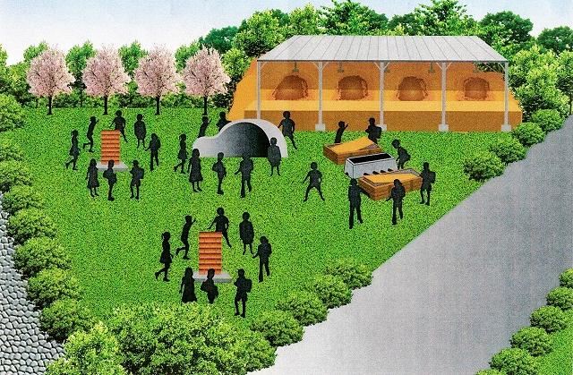 細呂木製鉄遺跡を活用したミニパークの完成イメージ図