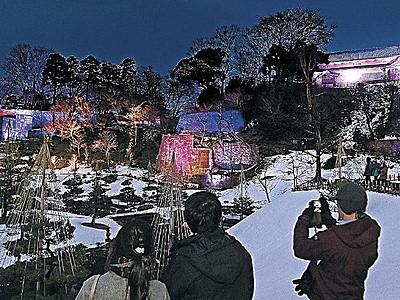 ロックと光融合 金沢城公園でセッション