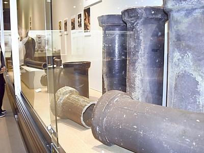 越前焼の土管にスポット 越前町県陶芸館、歴史たどる展示