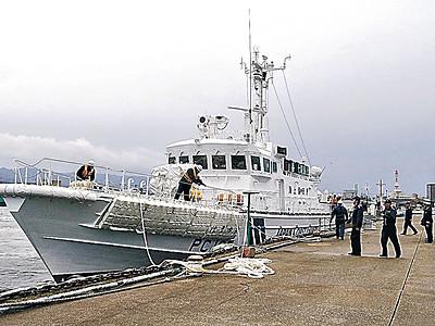 新巡視艇が七尾入港 海保、23日に就役披露式