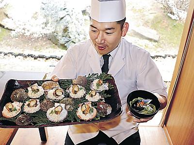 貝類のヒオウギとクロガイ特産に 七尾湾、新たな料理開発