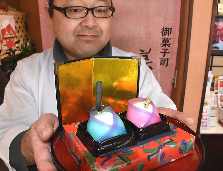 美土里屋が販売する和菓子「おひなさまセット」