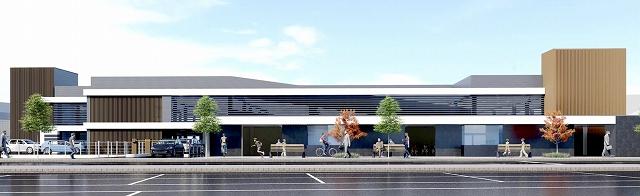 福井県芦原温泉駅の西口立体駐車場のイメージ図