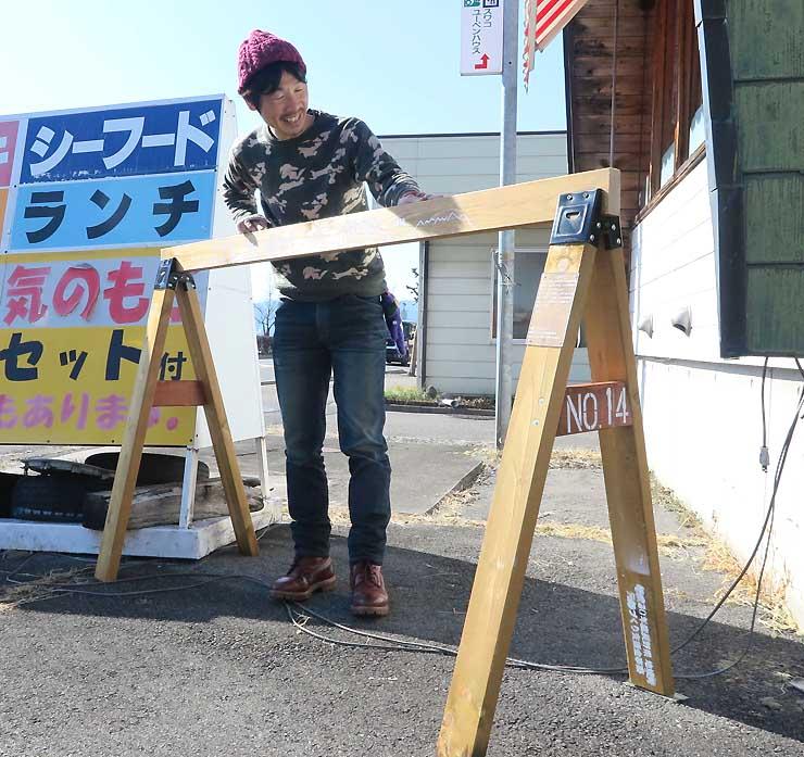 諏訪湖八ケ岳自転車活用推進協議会が設置を進めているサイクルスタンド