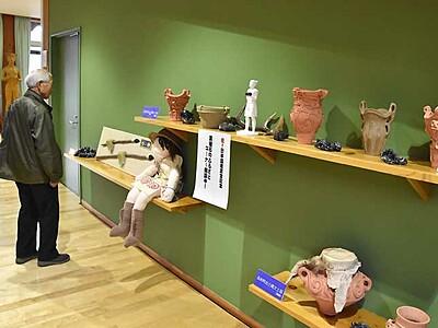 「日本遺産のまち」長和をPR 黒曜石や土器展示
