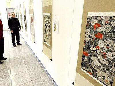 伊藤若冲の名画を西陣織で再現 坂井市、全国巡回展が開幕