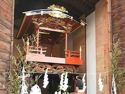 お船祭りへ、江戸期の山車美しく 松本・里山辺の荒町町会