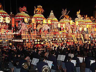 2年ぶり11基勢ぞろい 4月29日に石動曳山祭