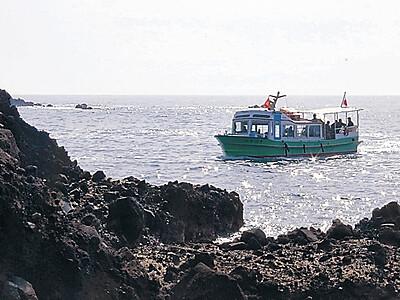 景勝地の巌門 遊覧船が今季の運行開始