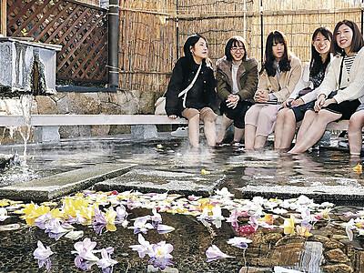 エアリーフローラ、足湯を彩る 加賀温泉郷の4温泉