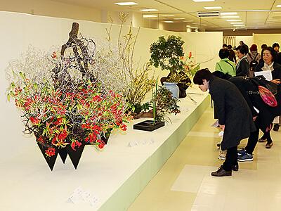 力作ぞろい春表現 北日本いけばな展後期展