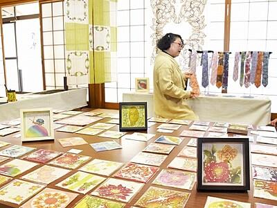 色鮮やかな型絵染 京都の染色家、高浜で披露