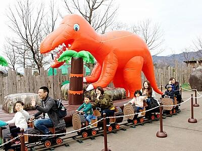 勝山ディノパークが再開 福井、恐竜や巨大昆虫