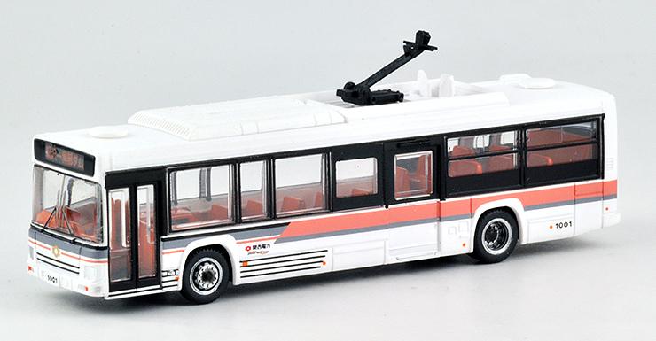 トミーテックが発売する関電トンネル電気バスの模型