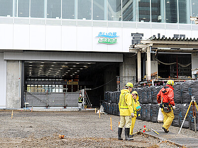 21日から仮通路利用 富山駅南口・北口間