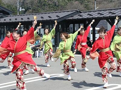 「おもてなし」確かな手応え 広場1周年で催し 弥彦村