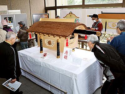 平成の職人技に感心 高岡市立博物館で「唐櫃」公開