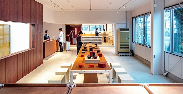 4月21日にオープンするショップや観光案内所などの複合施設「ツーリストア」=福井県鯖江市河和田町