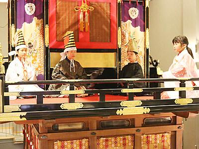 最後の舞台へ猛稽古 出町子供歌舞伎曳山祭り 29、30日 御祝儀舞も披露