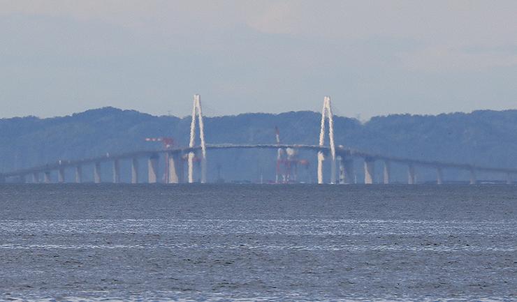 実際の景色に近い状態の新湊大橋