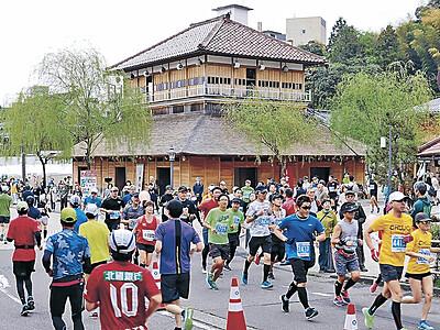 温泉郷マラソン 加賀市を4978人駆ける