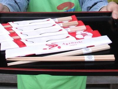 狐の嫁入り30周年記念グッズ 箸と箸袋限定販売 阿賀町