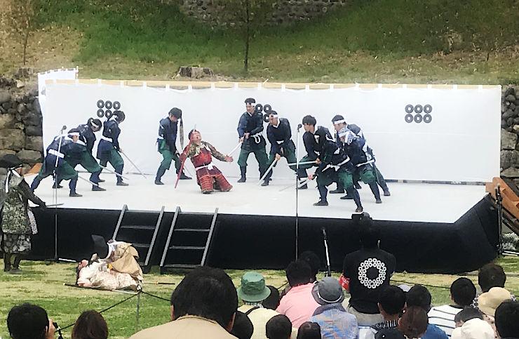 大勢の観客の前で繰り広げられた「真田軍VS徳川軍決戦劇」
