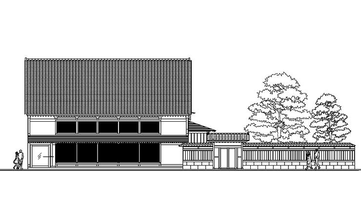 物販施設の完成イメージ図
