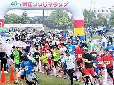 鯖江つつじマラソン12日号砲 初夏の田園3341人出走