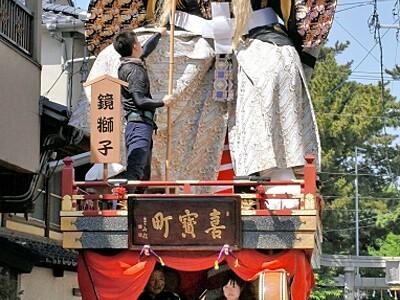 三国祭5月19日開幕 福井県坂井市 本番前に山車渡り初め