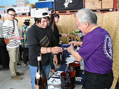 飲み比べ、地酒楽しむ 上田で酒蔵開放、1000人来場