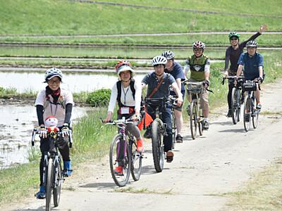自転車コース、ツアーへ試走 辰野で6月初回予定