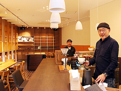 カフェで情報発信、まちなか活性化 小矢部・地域おこし協力隊松田さん